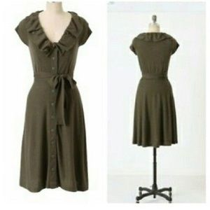 NWT Anthropologie Cashmere Blend Belted Dress